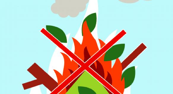 Brûlage à l'air libre des déchets verts interdits