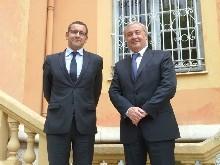 Le nouveau sous Préfet de Grasse accueilli par le Maire de Vence