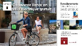 Découvrez Vence en vélos électriques gratuits