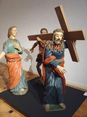 Les statues du Calvaire exposée à la cathédrale
