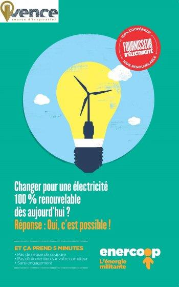 Faire de Vence un territoire de transition écologique et citoyenne avec enercoop