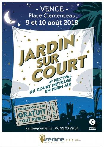 JARDIN SUR COURT, 4e Festival de courts-métrages en plein-air gratuit