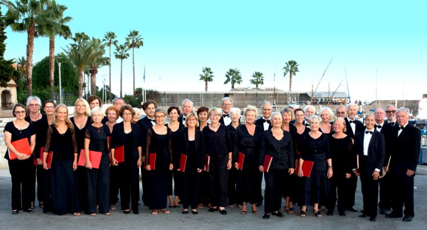 L'Ensemble vocal Syrinx en concert à Vence, sous la direction de Giulio Magnanini