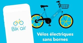 Bik'air, des vélos électriques en libre-service sans bornes