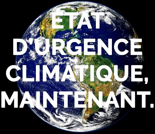 Une Motion déclare l'état d'urgence climatique