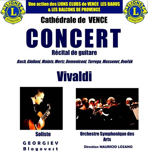 Concert caritatif des Lions Clubs