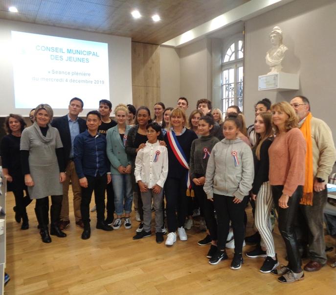 La nouvelle assemblée junior réunie en mairie