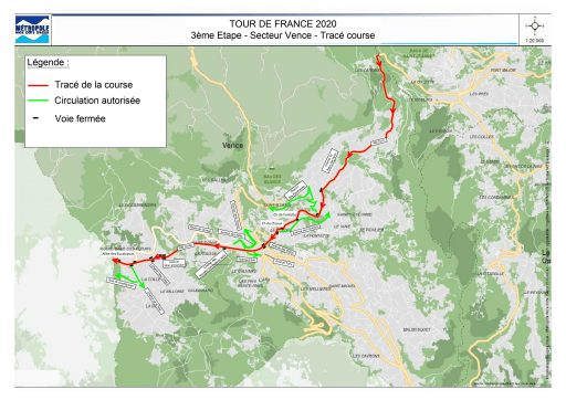 Tour de France 2020 / Passage à Vence le 31 août 2020
