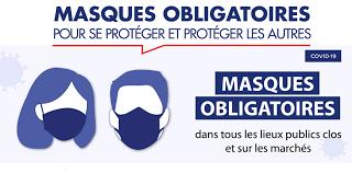 Port du Masque obligatoire : marchés et manifestations