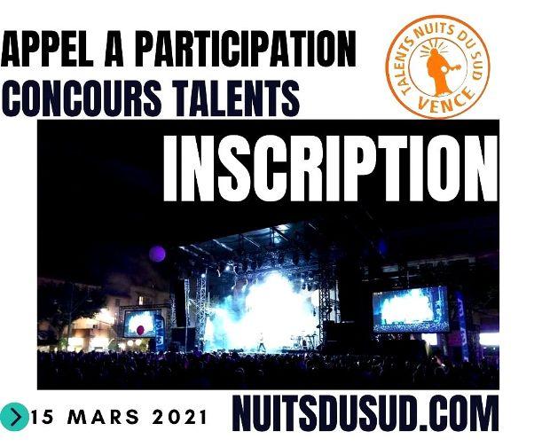 14èmeConcours Talents Nuits du Sud